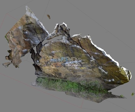 3D visualisation of the 'Pongo Boulder' at Dumbarton Rock, made by the community of 'Dumby' Rock climbers with ACCORD.