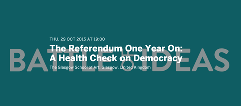 The Referendum One Year On: A Health Check on Democracy