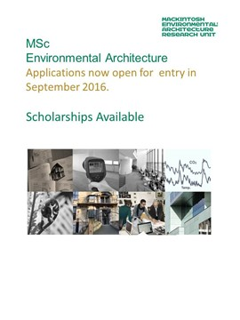 MSc Environmental Architecture