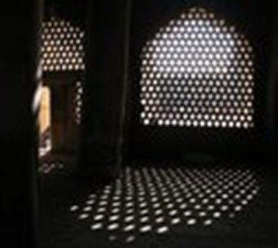 """Mashrabia"", a traditional Saudi woodwork used over window openings to filter the air from dust and for the privacy of residence of the house"