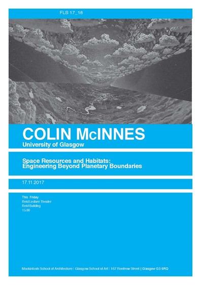 Colin McInnes MSA Friday Lecture Series