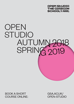 Book now: Open Studio 2018/19