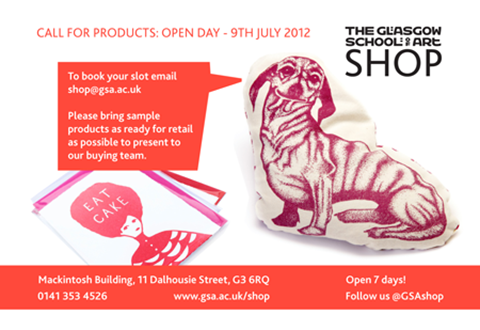 GSA COLLECTION CALL FOR PRODUCTS:  OPEN DAY