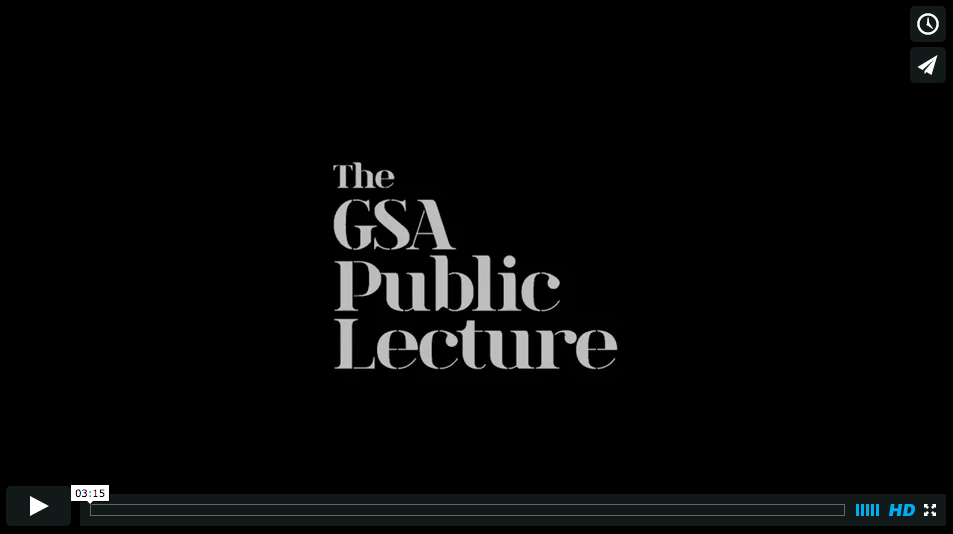 GSA public lecture series presents Jonny Rodger