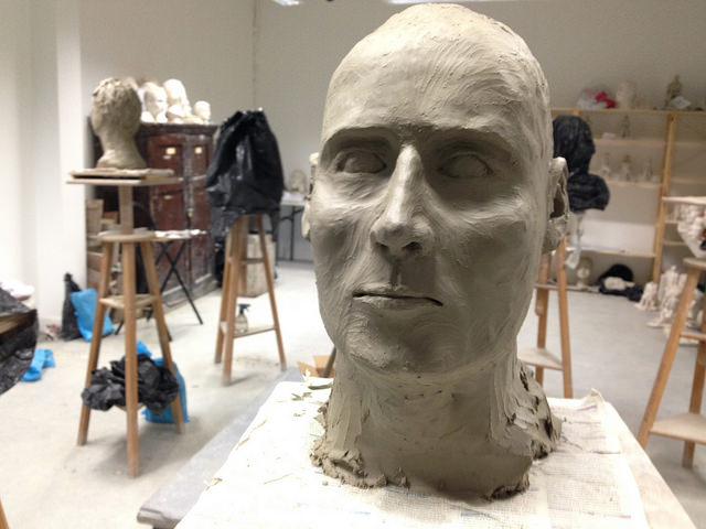 sculpting in clay