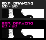 Experimental Drawing in 2D + 3D