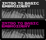 Introduction to Basic Embroidery