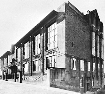 The Mackintosh building at the Glasgow School of Art