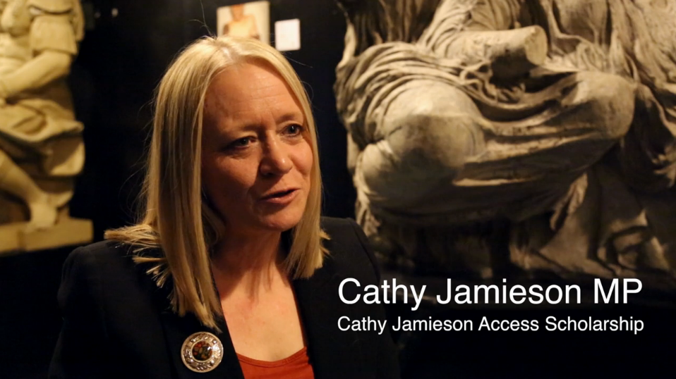 Cathy Jamieson MP explains why she donates to the Access Scholarships Fund