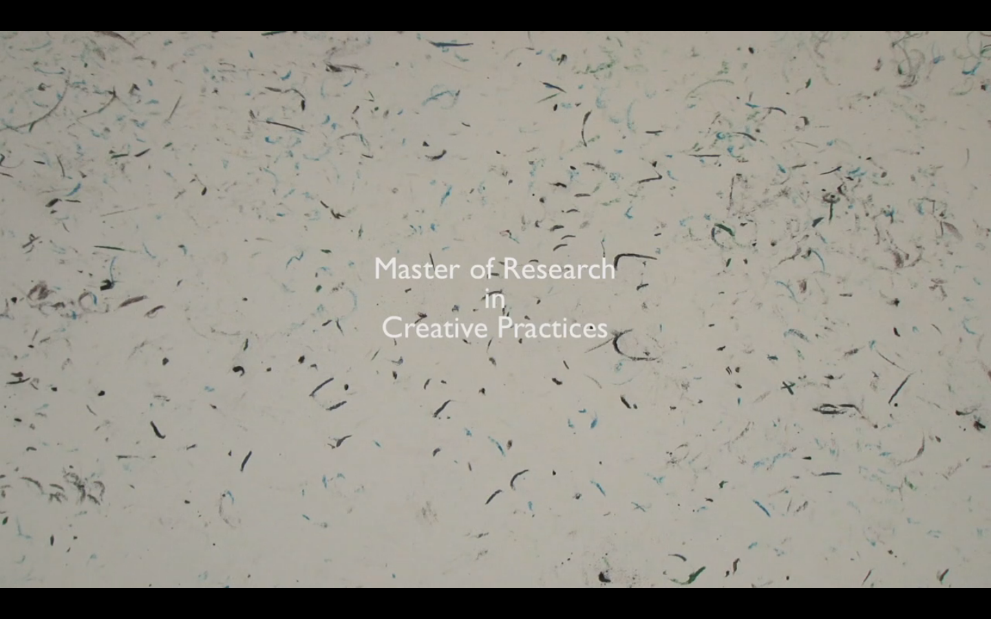 Mres Creative Practices Video